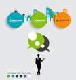 Modern infographics template style Businessman vector image