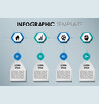 modern infographics with blue hexagons vector image