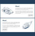 mussels posters set meals vector image vector image