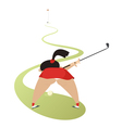 On the golf course vector image vector image