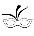 outline of a mardi gras mask vector image vector image