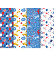 pattern set national colors of the united vector image vector image