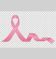 pink ribbon woman breast cancer awareness vector image