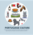 portuguese culture travel to portugal architecture vector image vector image