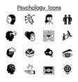 psychology icons set graphic design vector image