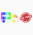 rainbow colored dotted free delivery icon vector image vector image