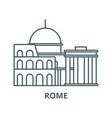 rome line icon linear concept outline vector image vector image
