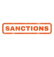 Sanctions Rubber Stamp vector image vector image