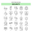 security line icon set - 25 dashed outline style vector image