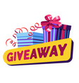 shopping offer giveaway prize isolated icon gift vector image
