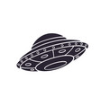 silhouette toy ufo space ship vector image