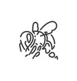 simple line art icon bee pictogram design vector image vector image