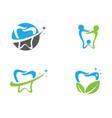 smile dental logo template icon design vector image vector image