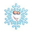 SnowFlake Emoticon Hey Sweetie vector image vector image