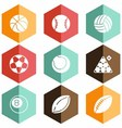 solid icons ball games vector image vector image