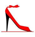 stiletto fashion shoe vector image
