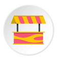 street stall with striped awning icon circle vector image vector image