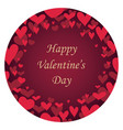 valentines day abstract round background vector image vector image