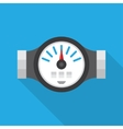 Water Meter Flat Icon vector image