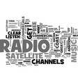 what are features satellite radio text vector image vector image