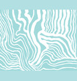 white abstract waves on blue background simple vector image