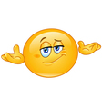 Who cares emoticon vector image