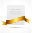White card with ribbon vector image