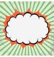 Pop art retro cloud vector image