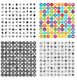 100 internet marketing icons set variant vector image vector image