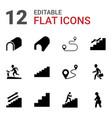 12 walk icons vector image vector image