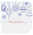 2015 Merry Christmas greeting card vector image
