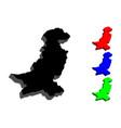 3d map of pakistan vector image vector image
