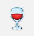 a glass red wine vector image