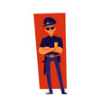 a policeman or police officer standing cartoon vector image vector image