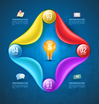 Abstract business infographics options template vector image vector image