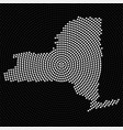 abstract map new york radial dots halftone vector image