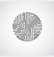 abstract technology with round monochrome circuit vector image vector image