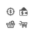 add purchase wallet and dollar target icons
