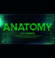 anatomy banner medical background vector image