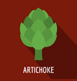 artichoke icon flat style vector image