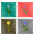 assembly flat shading style flower vector image vector image