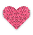 big pink heart made of hearts with shadow vector image vector image
