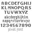 Big pixel font vector image vector image