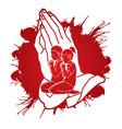 boy and girl prayer christian praying praise god vector image vector image