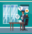 businessman at office vector image vector image