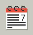 calendar icon flat design pixel perfect vector image