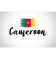 cameroon country flag concept with grunge design vector image vector image