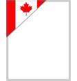 canadian flag corner frame border vector image vector image