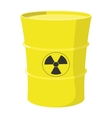 Cartoon barrel with nuclear waste vector image