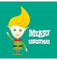 cartoon cute happy Christmas elf vector image